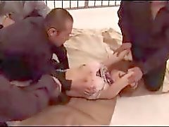 Redhead Girl With Tied Arms In Stockings Getting Her Pussy Fingered Licked Fucked In The Jail