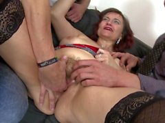 Hottest group sex with mature moms and grannies