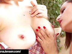 Penthouse Pet Jelena Jensen & Sensual Jane Suck Big Titties!