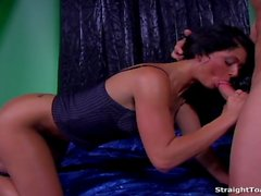 Taryn Thomas Swallows Cum After Hard Butthole Fuck