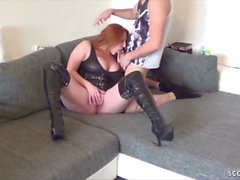 GERMAN BIG TITS STEP MOM MELISSA caught and get Fucked