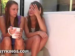 Reality Kings - Cute lesbian Celeste Star teaches Malena Morgan how to squi