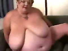 BBW house wife masturbates alone