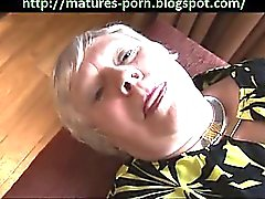 Great granny show big ass and hairy pussy