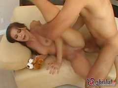Terrific slut Jenna Presley stretches her tight pussy with ass-kicking cock