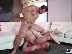 Tommy gets his ass jackhammered by Phenix Saints raging cock