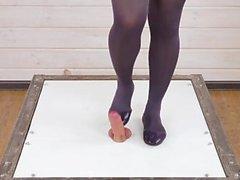 Unbewusste Riesin Füße Pov