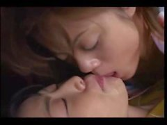 10 Very Sexy & Super Cute Japanese Lesbian Kissing Clips - Part 3