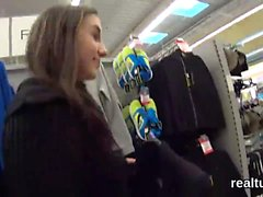 Luscious czech nympho is tempted in the supermarket and scre