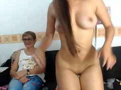Teen lesbian boobs and pussy carresed