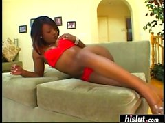 Jada Fire playing with an oversized shaft