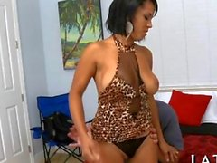 Naughty Latina teases her lover to no end