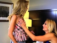 SEXYMOMMA Teenie Emily Kae groped and licked by her stepmom