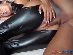 he fuck hot ass the latex girl segment