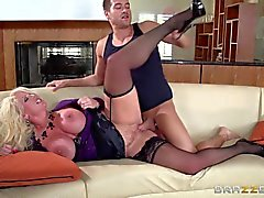 Milf with huge boobs Alura Jenson gets her pussy hammered