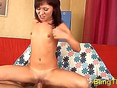 beguiling russian brunette bimbo gets seduced and fucked