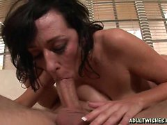Horny milf whore freting cock