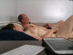 Horny amateur Older Couple Fooling Around
