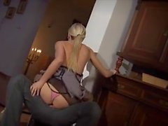 Blonde milf fucked in pantyhose