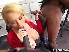 Big titted blonde milf Krissy Lynn banged by blacks