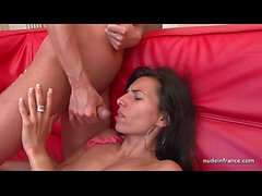 Sublime french milf deep anal fucked and finished with facial cumshot