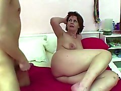 Mom caught german boy jerking when wake up and get fuck