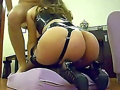 Hot wife with booty gets fucked and facialized