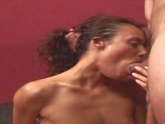 MILF babe knows how to make this penus big and hard with her mouth