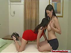 Jelena Jensen and Ava Dalush lesbo sex in the bedroom