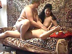 Amateur threesome orgy for camera