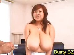 Busty Fuki Shows Of Her Big Fat Tits