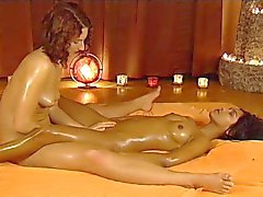 Massage with naked lesbians
