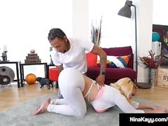 Nympho Nina Kayy Banged By Big Black Cock Yoga Guru!