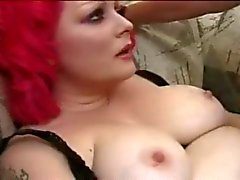 Chubby Redhead Alt Girl Sucks and Fucks Tattooed Cock