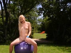 Natural tits pornstar outdoor and cumshot