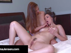 Step Sisters Jelena Jensen & Mindi Mink Make Each Other Cum!