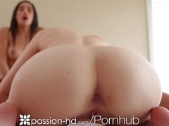 Passion-HD Teens sensual yoga turns into threesome