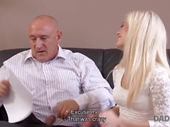 DADDY4K. Mature businessman cums in blonde's mouth to finish hot sex
