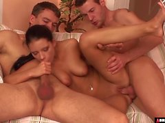 Cute Babe Small Viva First Hardcore Threesome