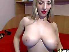 Cute big tits juicy blonde webcam show