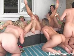 6 Girl Neighborhood Pussy Orgy! Rachel Storms, Vicky Vette, Jelena Jensen!