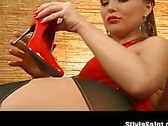 Silvia Saint sexy stockings and high heels