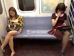 NYC subway voyeur asian girls