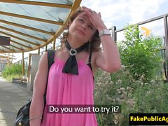 Public czech babe loves fucking outdoors