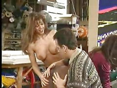 British MILF Nici Stirling gets fucked in a FFM threesome
