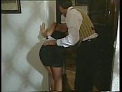 Sexy Blonde Maid gets turned on and dick downed by coworker