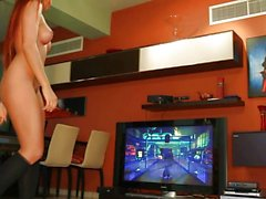Ashley Bulgari playing kinect