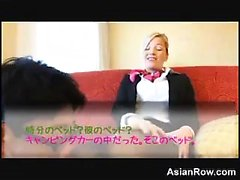 Blonde Stewardess And An Asian Guy Censored