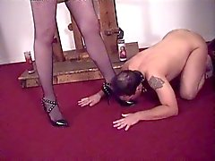 Super sexy Mistress Ava taking care of her slave guy