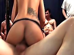 cute teens at her first gangbang